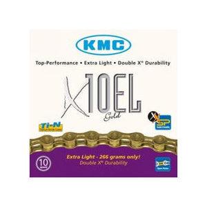 KMC X10-EL ketting 10-speed Goud