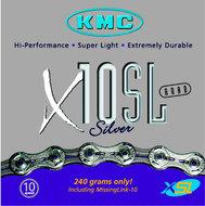 KMC X10-SL ketting 10 speed zilver