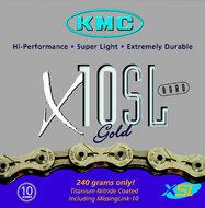 KMC X10-SL ketting 10-speed Goud
